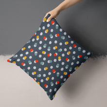 Load image into Gallery viewer, Hooptie Dark Grey Dot Pillow