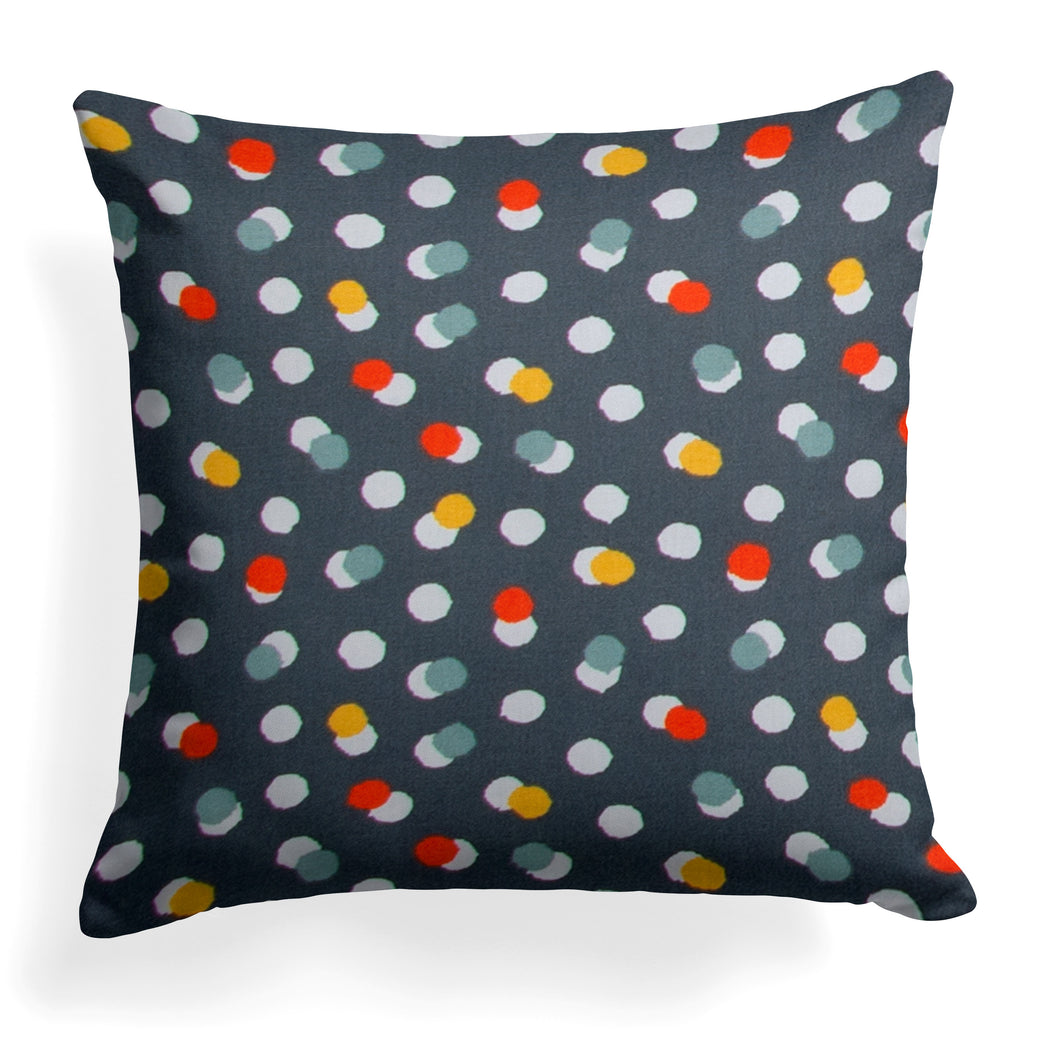 Hooptie Dark Grey Dot Pillow