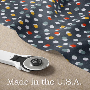 Hooptie Fitted Sheet Dark Grey Dot