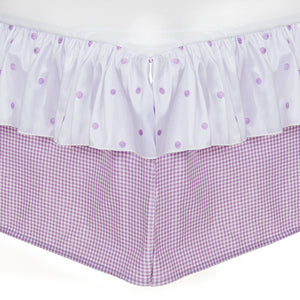 "SWEET PEA CRIB SKIRT (16"" DROP)"