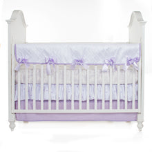 "Load image into Gallery viewer, SWEET PEA CRIB SKIRT (16"" DROP)"