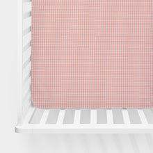 Load image into Gallery viewer, Cottage Rose Fitted Sheet (Pink gingham) - Shop Baby Slings & wraps, Baby Bedding & Home Decor !