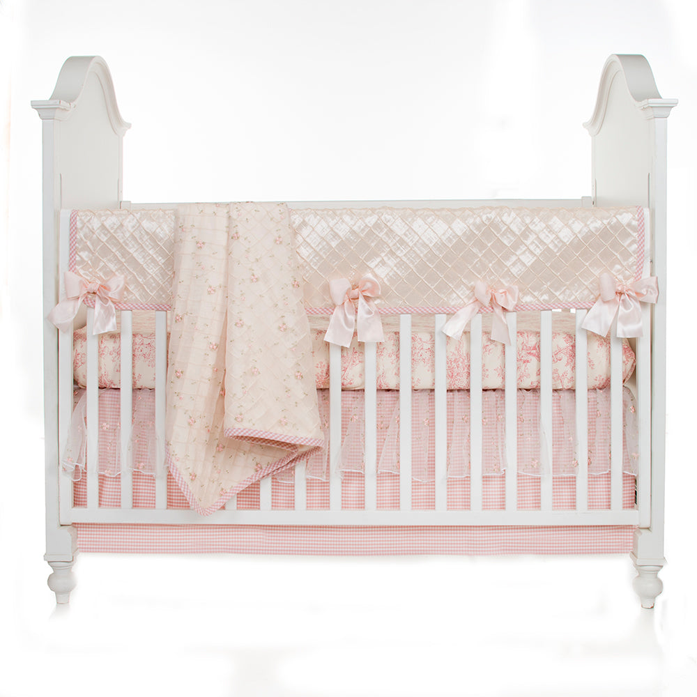 COTTAGE ROSE 4PC SET (INCLUDES QUILT, SHEET, SKIRT & LONG RAIL COVER) - Shop Baby Slings & wraps, Baby Bedding & Home Decor !