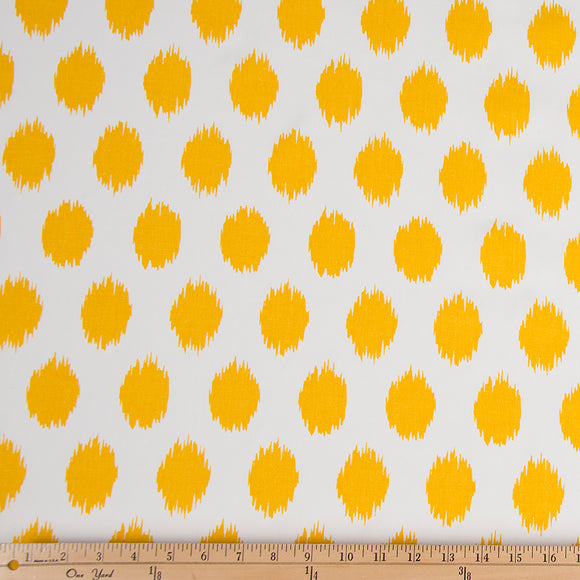 Swizzle Yellow Dot Fabric - Shop Baby Slings & wraps, Baby Bedding & Home Decor !