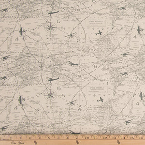 Atlas Airplane World Map Fabric - Shop Baby Slings & wraps, Baby Bedding & Home Decor !