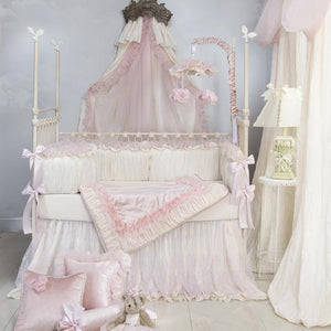 ANASTASIA CREAM 4 PC SET (INCLUDES: BUMPER, CRIB SKIRT, FITTED SHEET AND QUILT) - Shop Baby Slings & wraps, Baby Bedding & Home Decor !