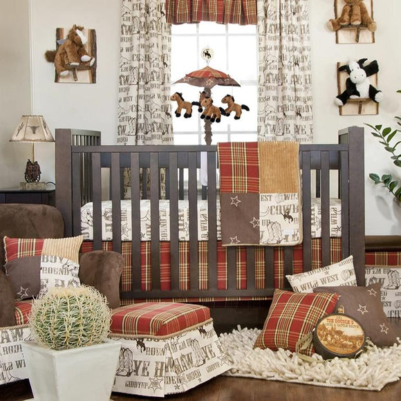 CARSON 4PC SET (INCLUDES QUILT, COWBOY PRINT SHEET, CRIB SKIRT AND BUMPER) - Shop Baby Slings & wraps, Baby Bedding & Home Decor !