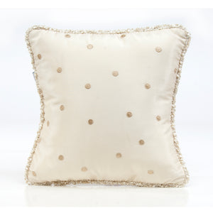 Victoria Pillow - Mocha Dot with Cord - Shop Baby Slings & wraps, Baby Bedding & Home Decor !