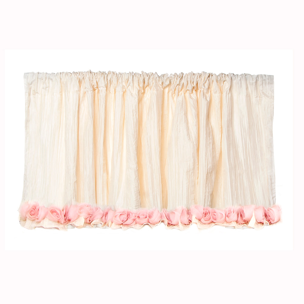 Victoria Valance (Ivory Crinkle with Roses) (Approximately 96x21