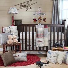 Load image into Gallery viewer, FLY-BY 2 PIECE SET (Includes Fitted Sheet, Dust Ruffle) - Shop Baby Slings & wraps, Baby Bedding & Home Decor !