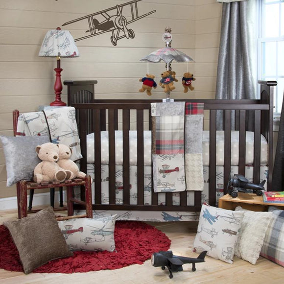 FLY-BY 3PC SET (INCLUDES QUILT, GREY DOT SHEET, CRIB SKIRT) - Shop Baby Slings & wraps, Baby Bedding & Home Decor !