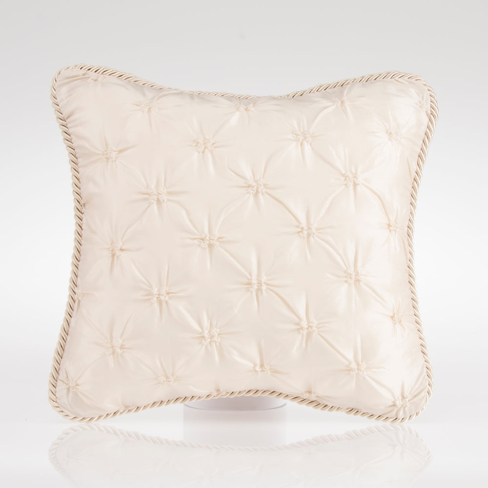 Paris Pillow Cream Tufted with Cord - Shop Baby Slings & wraps, Baby Bedding & Home Decor !