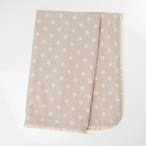 FLORENCE GREY DOT THROW