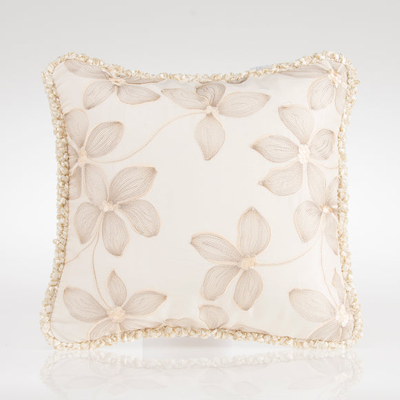 Florence Pillow (Floral Embroidery) - Shop Baby Slings & wraps, Baby Bedding & Home Decor !
