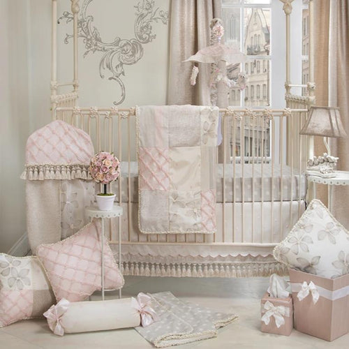 FLORENCE 3PC SET ( INCLUDES QUILT, FITTED SHEET AND CRIB SKIRT) - Shop Baby Slings & wraps, Baby Bedding & Home Decor !