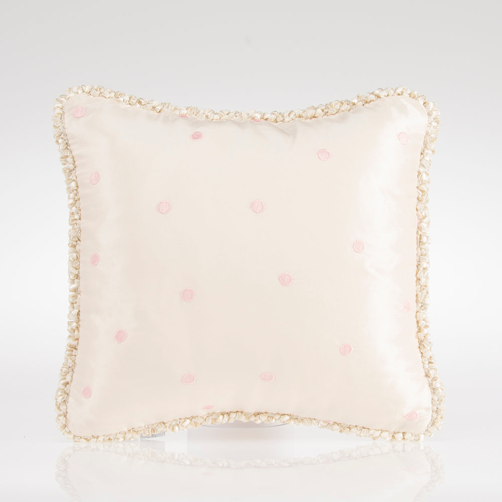 Contessa Pillow - Pink Dot Embroidery - Shop Baby Slings & wraps, Baby Bedding & Home Decor !