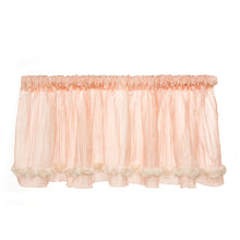 "Load image into Gallery viewer, Contessa Window Valance (Pink Crinkle with Roses) (Approximately 96x21"") - Shop Baby Slings & wraps, Baby Bedding & Home Decor !"