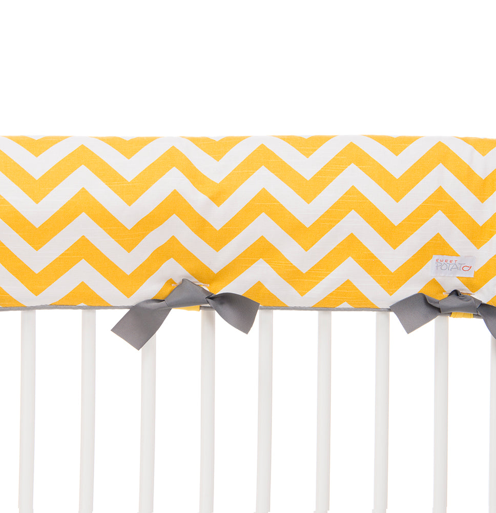 Swizzle Yellow Crib Rail Guard - Shop Baby Slings & wraps, Baby Bedding & Home Decor !