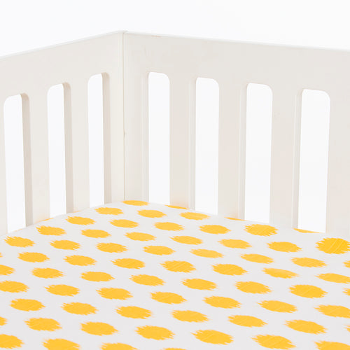 Swizzle Yellow Fitted Sheet Yellow Dot - Shop Baby Slings & wraps, Baby Bedding & Home Decor !