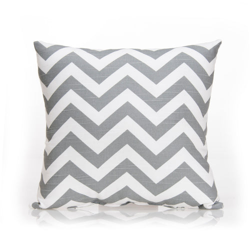 Swizzle Yellow Pillow - Grey Chevron