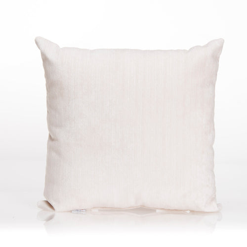 Swizzle Yellow Pillow - White Velvet