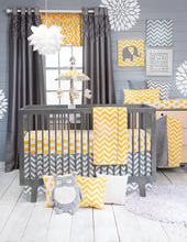 Load image into Gallery viewer, Swizzle Yellow Pillow - Yellow Chevron - Shop Baby Slings & wraps, Baby Bedding & Home Decor !