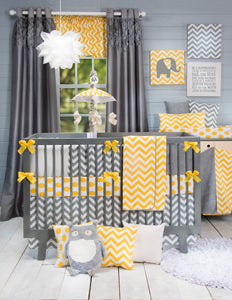Grey Chevron Wall Canvas - Shop Baby Slings & wraps, Baby Bedding & Home Decor !