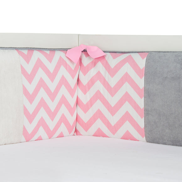 Swizzle Pink Bumper - Shop Baby Slings & wraps, Baby Bedding & Home Decor !
