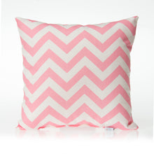 Load image into Gallery viewer, Swizzle Pink Pillow - Pink Chevron - Shop Baby Slings & wraps, Baby Bedding & Home Decor !