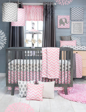 Load image into Gallery viewer, Swizzle Pink Drapery Panels - Shop Baby Slings & wraps, Baby Bedding & Home Decor !