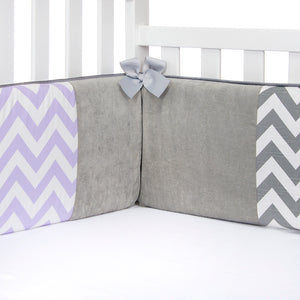 SWIZZLE PURPLE 4 PIECE SET (INCLUDES A QUILT, CRIB SKIRT AND GREY DOT FITTED SHEET AND BUMPER) - Shop Baby Slings & wraps, Baby Bedding & Home Decor !