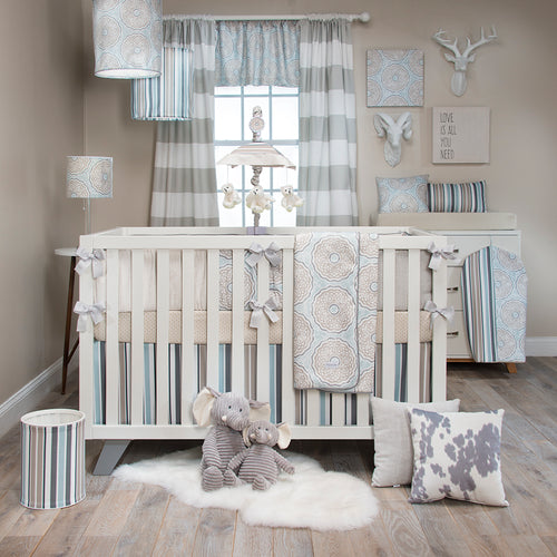 LUNA 4 PIECE SET (INCLUDES CRIB SKIRT, FITTED CRIB SHEET, QUILT AND BUMPER) - Shop Baby Slings & wraps, Baby Bedding & Home Decor !