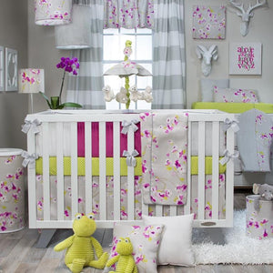 BLOSSOM 4 PIECE SET (INCLUDES QUILT, BUMPER, GREEN DOT SHEET AND CRIB SKIRT) - Shop Baby Slings & wraps, Baby Bedding & Home Decor !