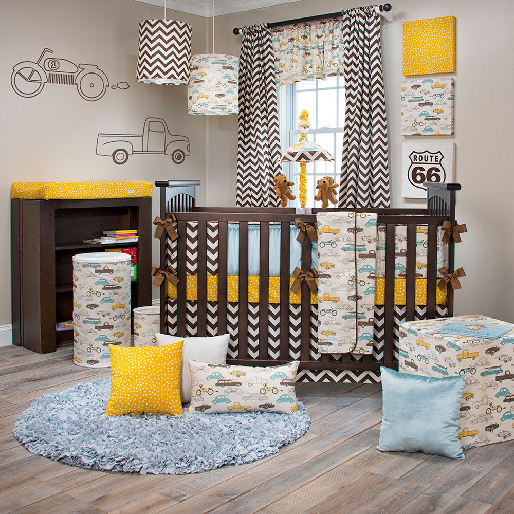 TRAFFIC JAM 4 PIECE BABY CRIB BEDDING SET WITH BUMPER - Shop Baby Slings & wraps, Baby Bedding & Home Decor !