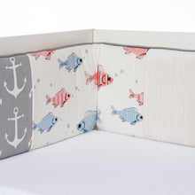 Load image into Gallery viewer, FISH TALES 4 PIECE SET (INCLUDES CRIB SKIRT, FITTED CRIB SHEET, QUILT AND BUMPER) - Shop Baby Slings & wraps, Baby Bedding & Home Decor !