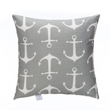 Load image into Gallery viewer, Fish Tales Pillow - Anchor Print - Shop Baby Slings & wraps, Baby Bedding & Home Decor !