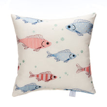 Load image into Gallery viewer, Fish Tales Pillow - Fish Embroidery - Shop Baby Slings & wraps, Baby Bedding & Home Decor !
