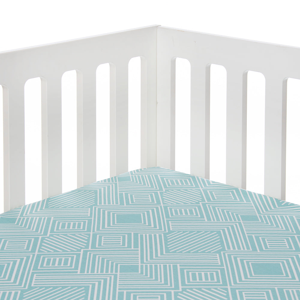Soho Fitted Sheet in Aqua - Shop Baby Slings & wraps, Baby Bedding & Home Decor !