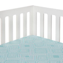 Load image into Gallery viewer, Soho Fitted Sheet in Aqua - Shop Baby Slings & wraps, Baby Bedding & Home Decor !