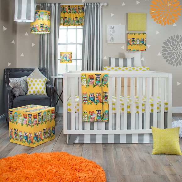 LIL HOOT 3PC SET (QUILT, DOT SHEET, CRIB SKIRT) - Shop Baby Slings & wraps, Baby Bedding & Home Decor !