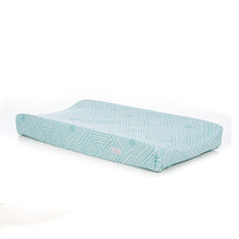 Load image into Gallery viewer, Soho Changing Pad Cover in Aqua - Shop Baby Slings & wraps, Baby Bedding & Home Decor !