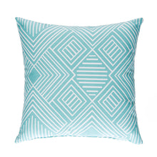 Load image into Gallery viewer, Soho Throw Pillow in Aqua - Shop Baby Slings & wraps, Baby Bedding & Home Decor !