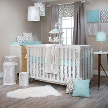 Load image into Gallery viewer, Soho Bolster in Aqua - Shop Baby Slings & wraps, Baby Bedding & Home Decor !