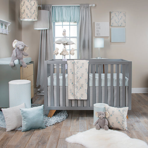 TWIGGY 3PC SET (QUILT, BLUE PRINT SHEET, CRIB SKIRT) - Shop Baby Slings & wraps, Baby Bedding & Home Decor !
