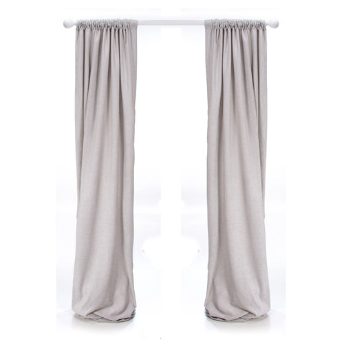 Twiggy  Drapery Panel (Grey Sparkly Velvet) (Approx 54x84) (Lined)(1 Panel)