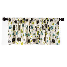 "Load image into Gallery viewer, North Country Window Valance (Bear Print) (Approximately 70x23"") - Shop Baby Slings & wraps, Baby Bedding & Home Decor !"