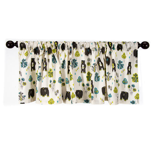 North Country Window Valance (Bear Print) (Approximately 70x23
