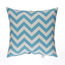 Load image into Gallery viewer, Little Sail Boat Pillow- Blue Chevron - Shop Baby Slings & wraps, Baby Bedding & Home Decor !