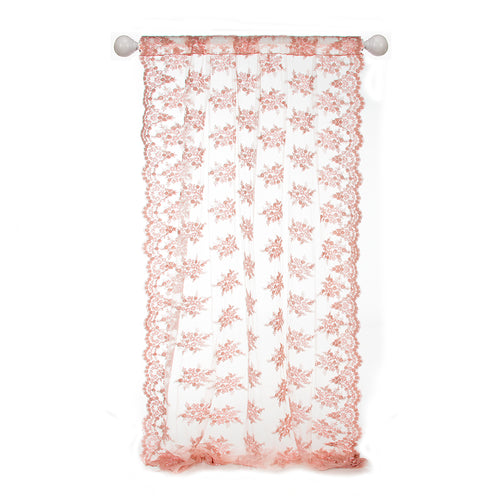 Remember My Love Window Panel (Sheer Embroidered w Scallop Edge) - Shop Baby Slings & wraps, Baby Bedding & Home Decor !