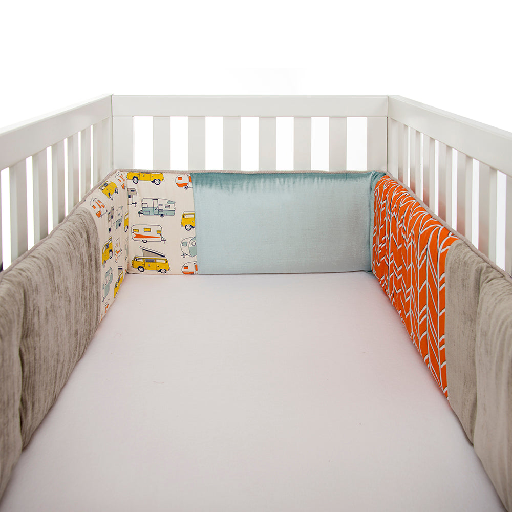 Happy Camper Bumper - Shop Baby Slings & wraps, Baby Bedding & Home Decor !